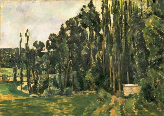 Cezanne, Paul: Poplars. Fine Art Print/Poster. Sizes: A4/A3/A2/A1 (004231)